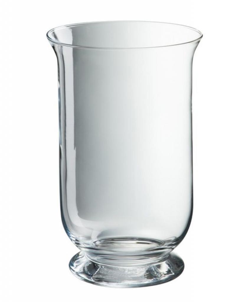 Produktové foto J-Line by Jolipa Transparentní skleněná váza Hurricane - Ø18*30 cm