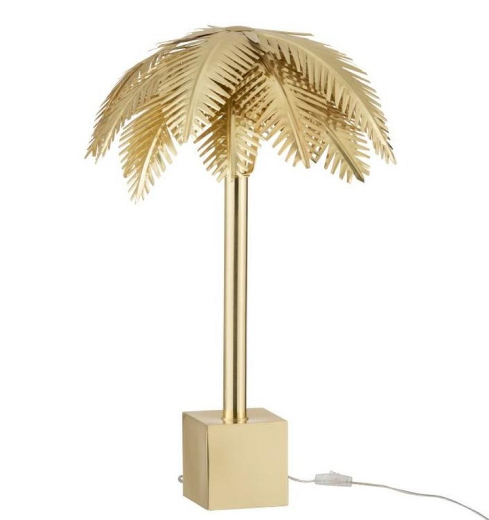 Produktové foto J-Line by Jolipa Zlatá kovová stolní palmová lampa Coconut - Ø 45*72 cm