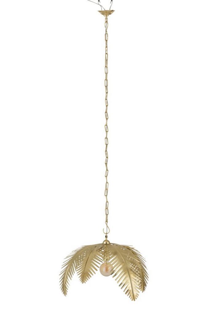 Produktové foto J-Line by Jolipa Zlaté kovové závěsné palmové světlo Coconut - Ø 72*25 cm