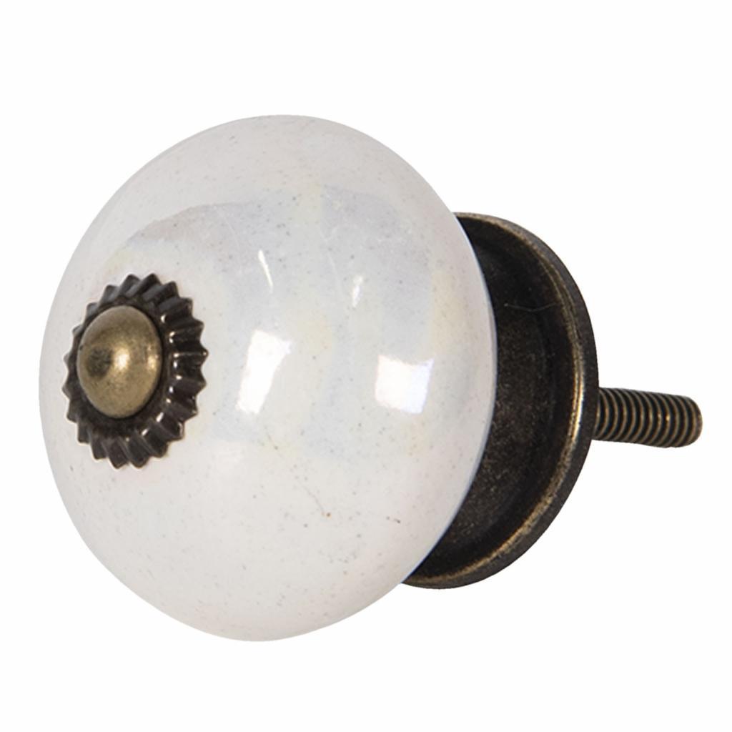 Produktové foto Clayre & Eef Porcelánová perleťová knopka – Ø 4*4 cm