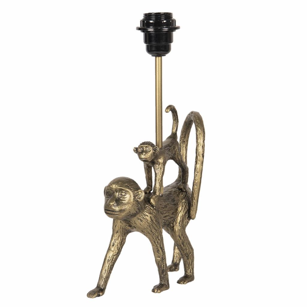 Produktové foto Clayre & Eef Zlatá stolní lampa v designu opic Les Animaux - 20*7*36 cm