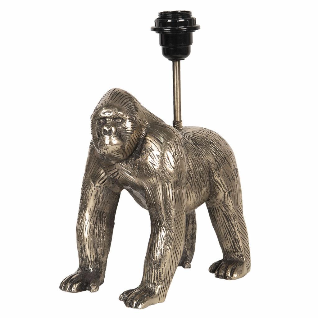 Produktové foto Clayre & Eef Zlatá lampová noha v designu gorily Les Animaux - 20*14*31 cm