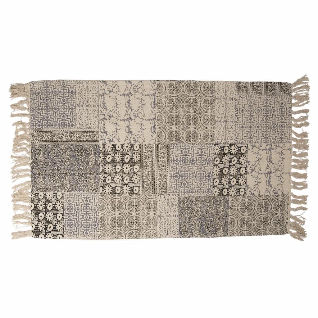 Produktové foto Clayre & Eef Koberec v patchwork provedení s třásněmi - 70*120 cm
