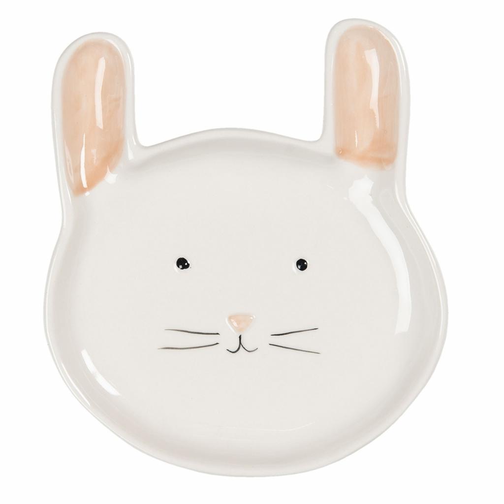 Produktové foto Clayre & Eef Keramický talíř v designu zajíčka - 15*17*2 cm