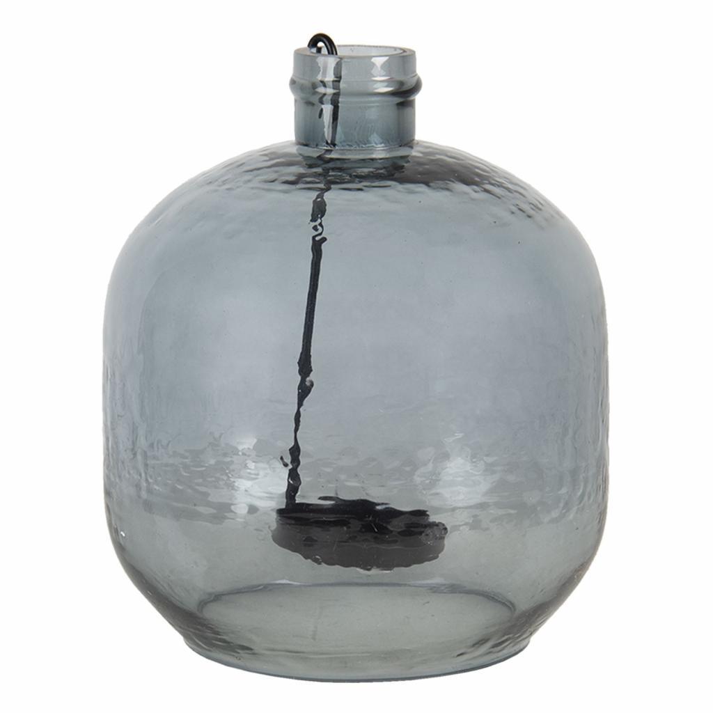 Produktové foto Clayre & Eef Skleněný svícen s držákem na čajovou svíčku - 20*18 cm