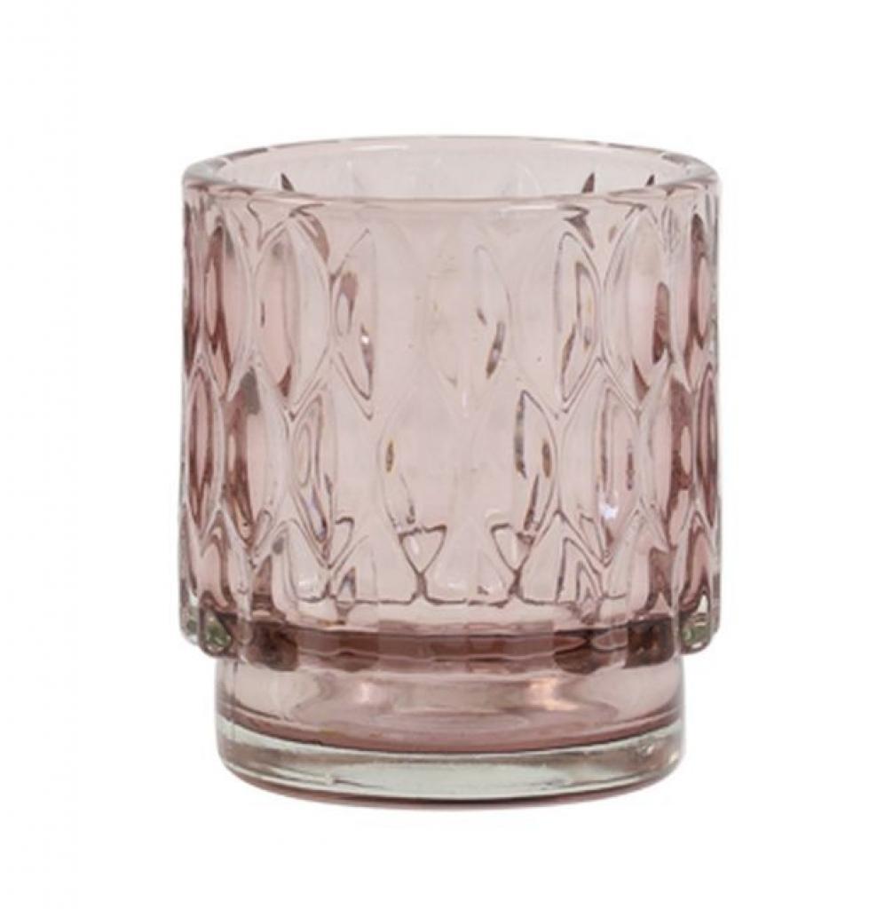 Produktové foto Light & Living Staro - růžový skleněný svícen Grace - Ø 7*8 cm
