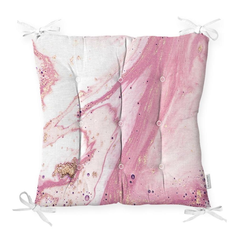 Produktové foto Podsedák s příměsí bavlny Minimalist Cushion Covers Pinky Abstract,40x40cm