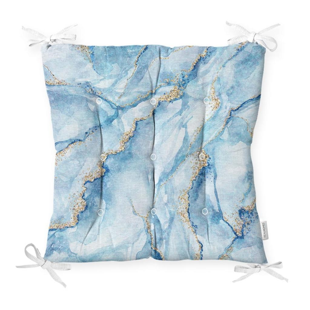 Produktové foto Podsedák na židli Minimalist Cushion Covers Marble Blue, 40 x 40 cm