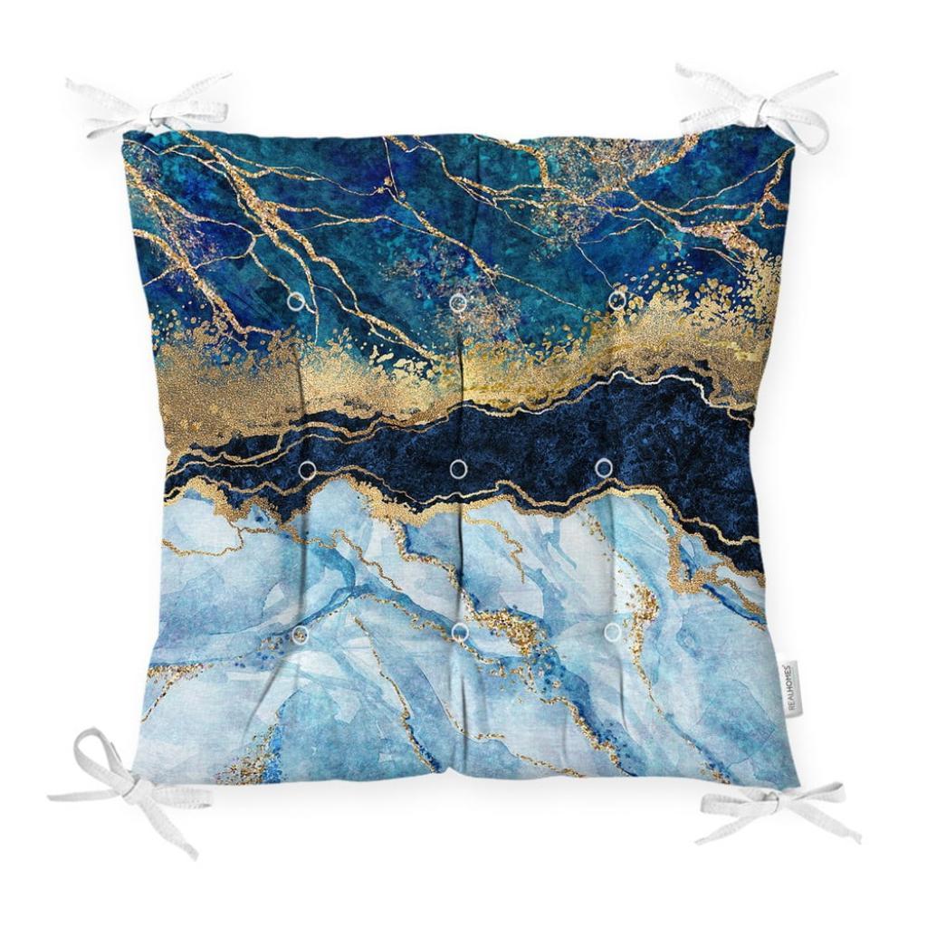 Produktové foto Podsedák na židli Minimalist Cushion Covers Blue Marble, 40 x 40 cm