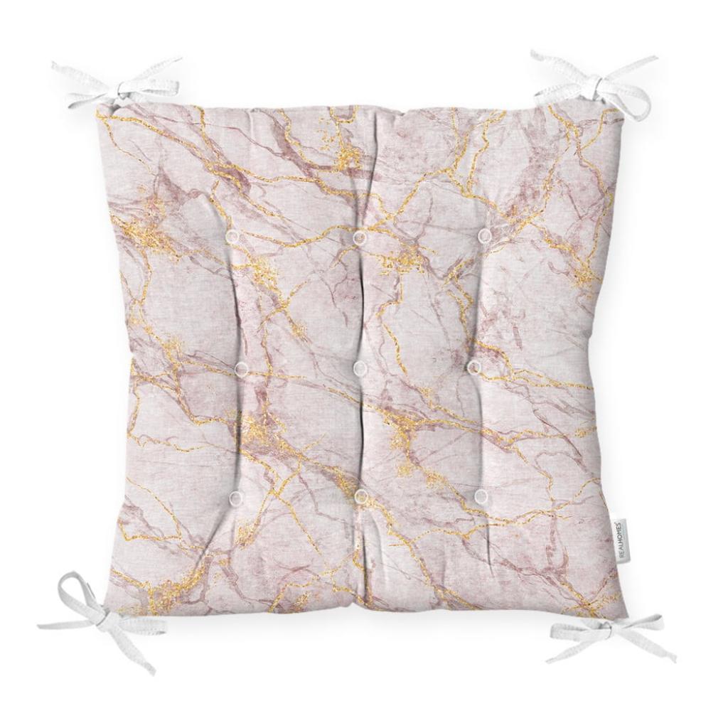 Produktové foto Podsedák s příměsí bavlny Minimalist Cushion Covers Pinky Marble,40x40cm