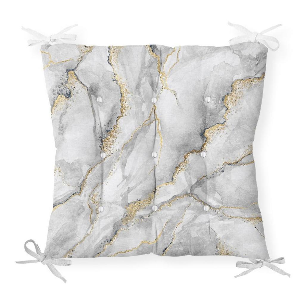 Produktové foto Podsedák na židli Minimalist Cushion Covers Marble Gray Gold, 40 x 40 cm