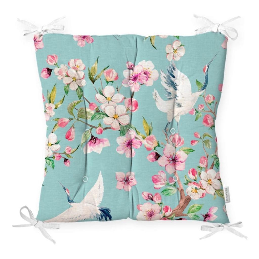 Produktové foto Podsedák na židli Minimalist Cushion Covers Flowers and Bird, 40 x 40 cm