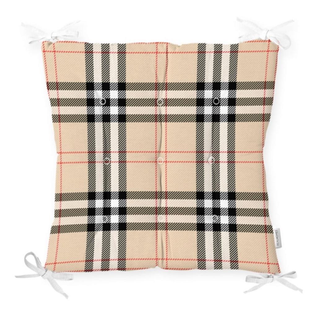 Produktové foto Podsedák na židli Minimalist Cushion Covers Flannel Beige, 40 x 40 cm