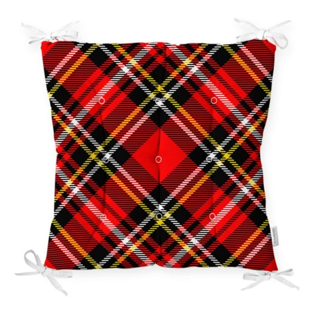 Produktové foto Podsedák na židli Minimalist Cushion Covers Flannel Red Black, 40 x 40 cm