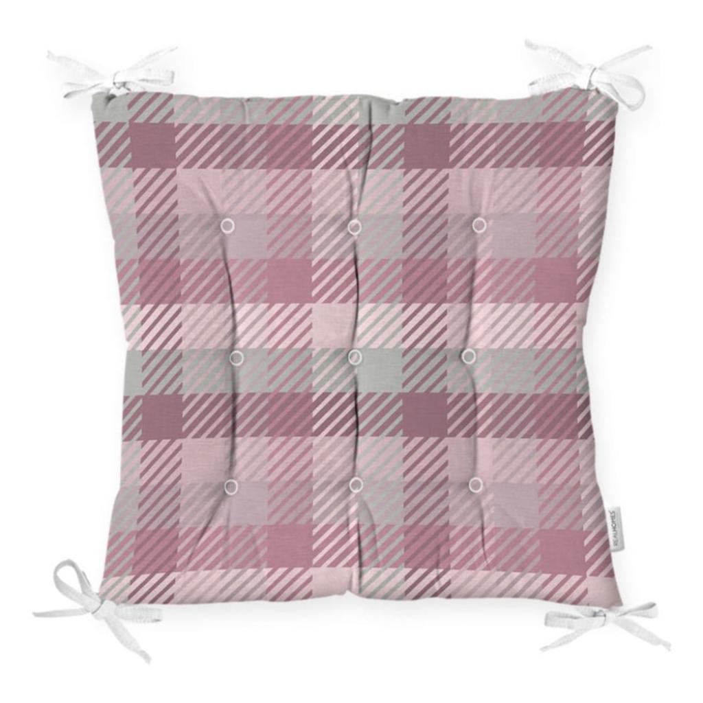 Produktové foto Podsedák na židli Minimalist Cushion Covers Flannel Pink, 40 x 40 cm