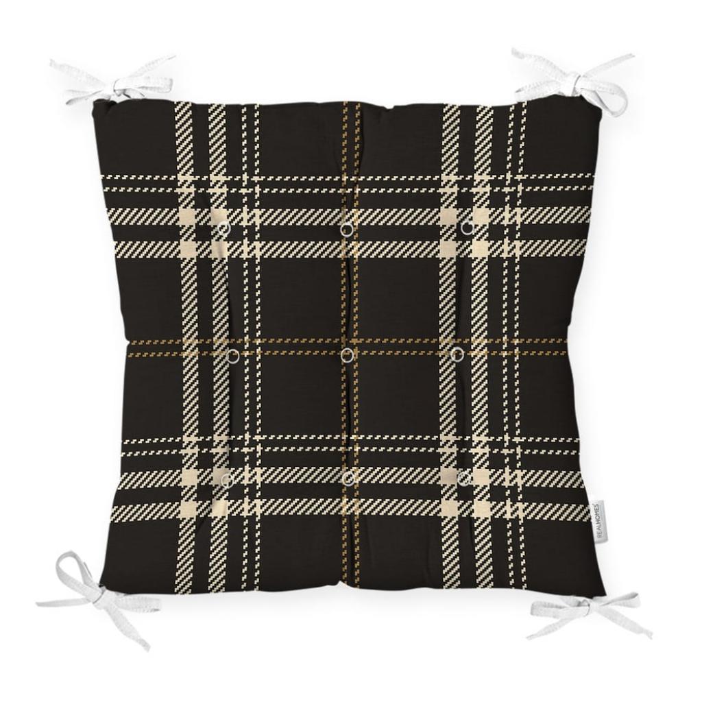 Produktové foto Podsedák na židli Minimalist Cushion Covers Flannel Black, 40 x 40 cm