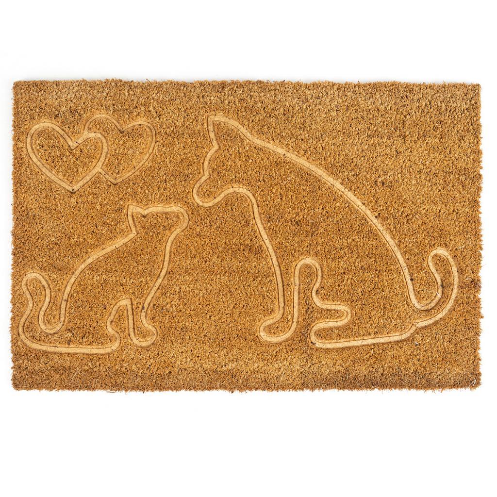 Produktové foto Trade Concept Kokosová rohožka Kočka a pes, 40 x 60 cm