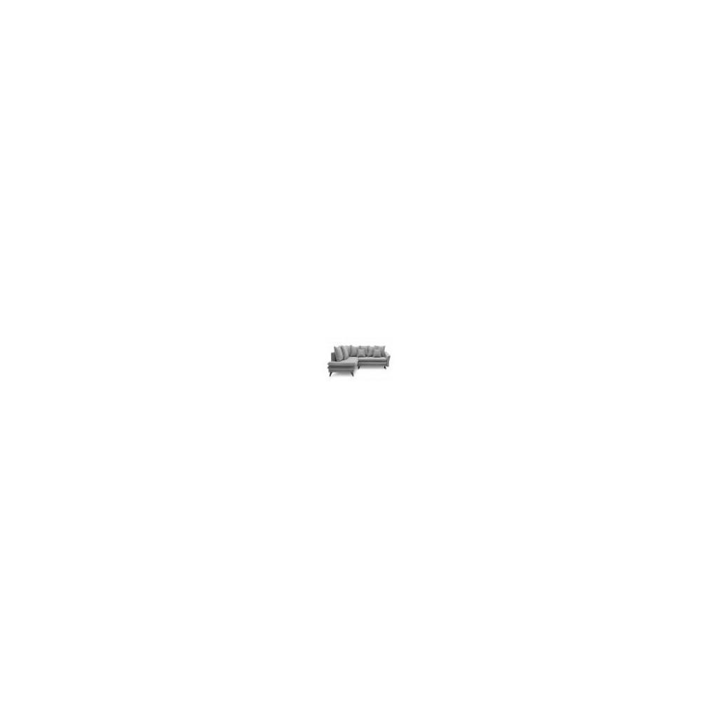 Produktové foto Světle šedá rozkládací rohová pohovka Bobochic Paris Seychelles, levý roh