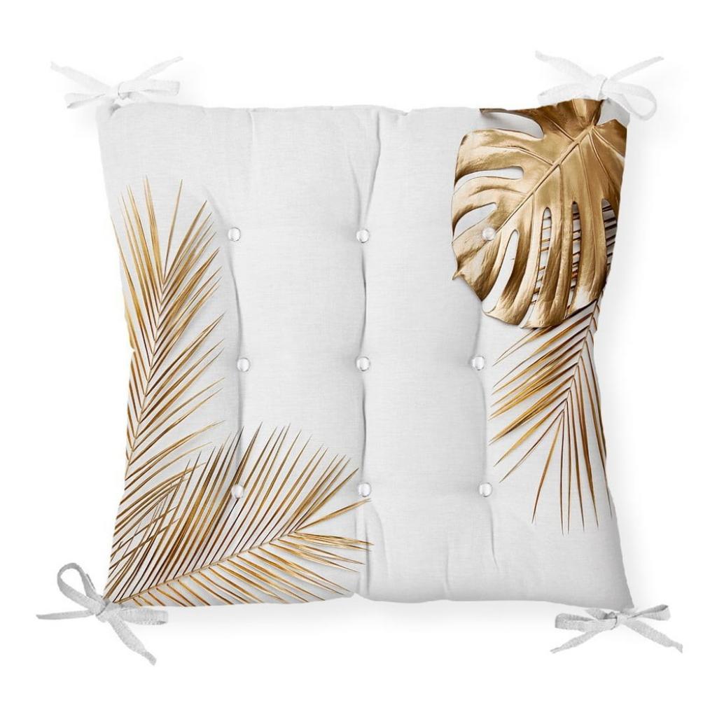 Produktové foto Podsedák na židli Minimalist Cushion Covers Gold Color Leaf, 40 x 40 cm