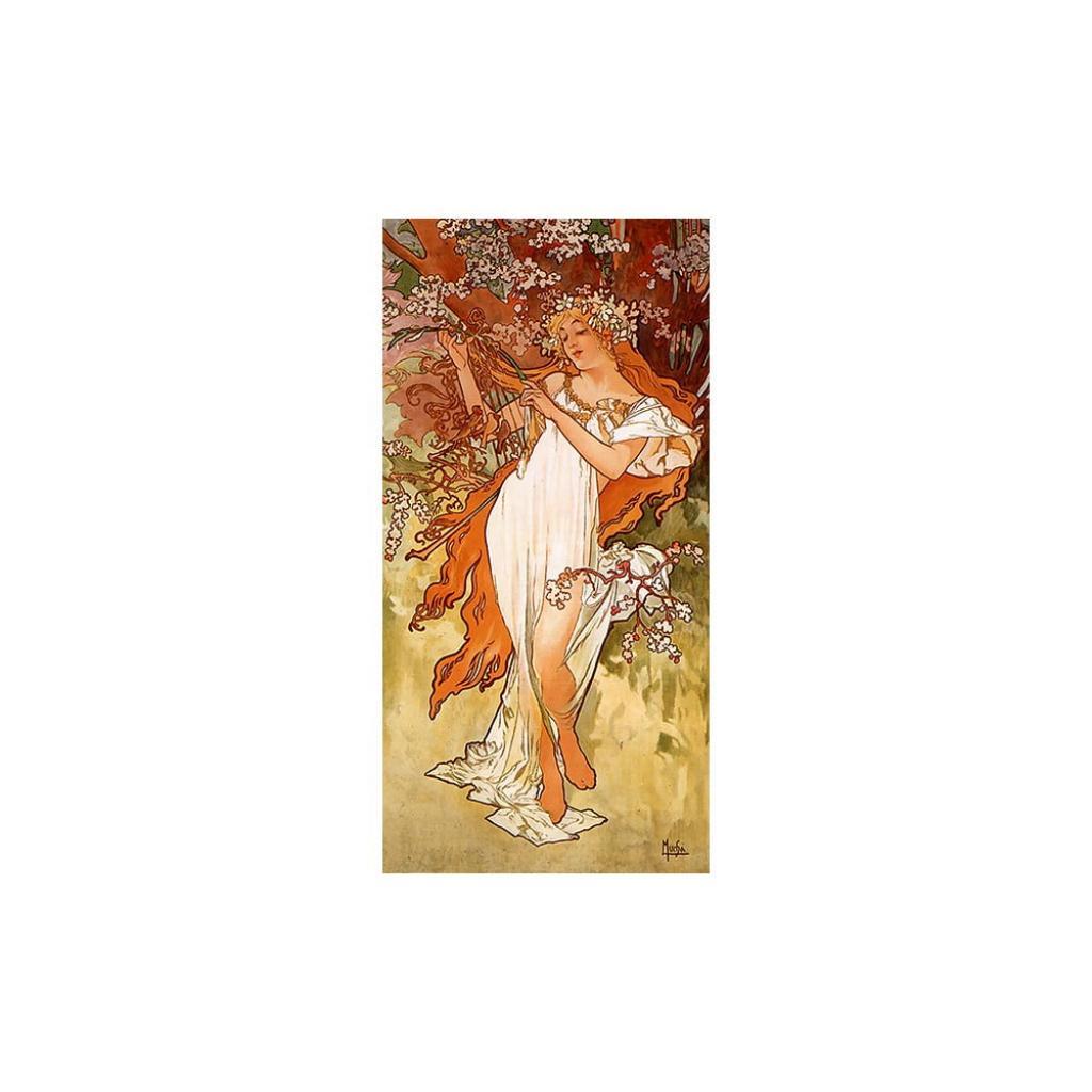Produktové foto Reprodukce obrazu Alfons Mucha - Spring,80x30 cm