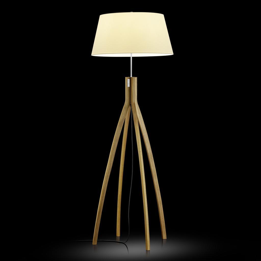 Produktové foto BANKAMP BANKAMP stojací lampa Memphis, dub a textil