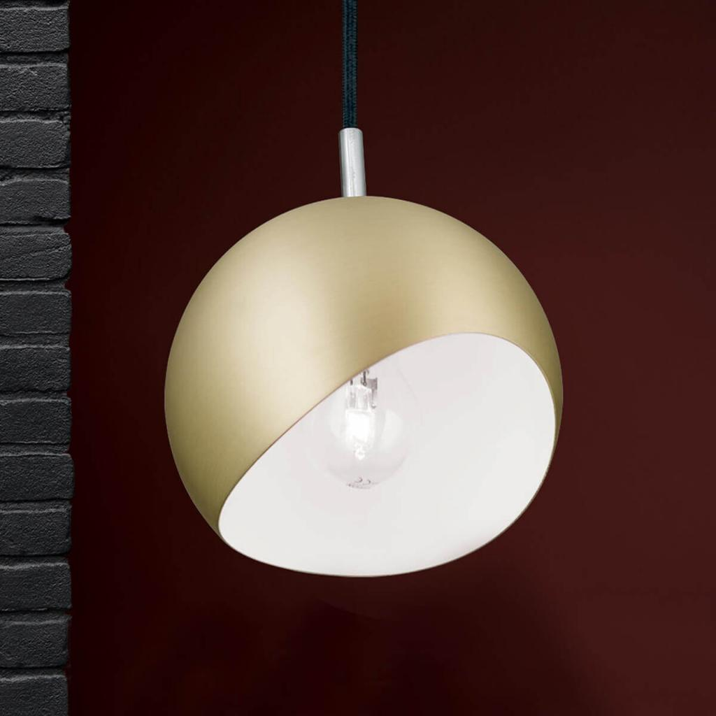 Produktové foto Orion Kulaté závěsné světlo Bowl - matné zlato