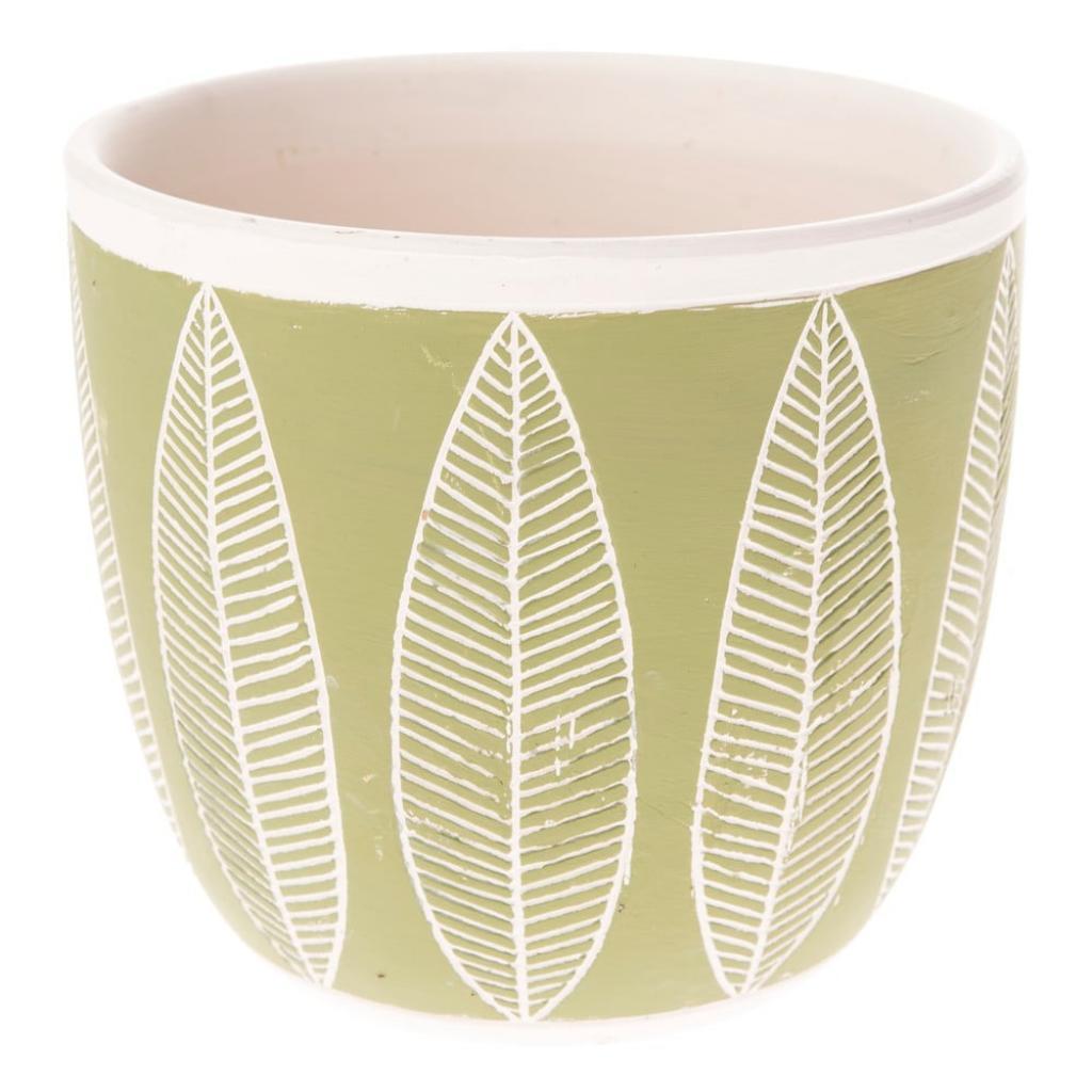 Produktové foto Zelený keramický květináč Dakls My Garden, výška 15 cm
