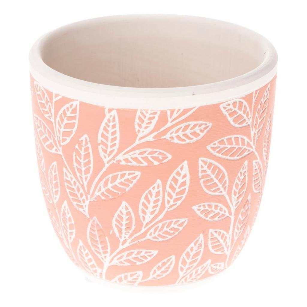 Produktové foto Růžový keramický květináč Dakls My Garden, výška 10 cm