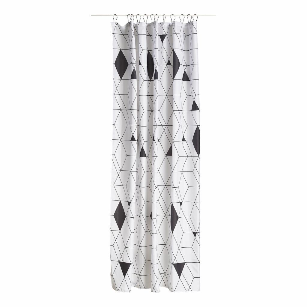 Produktové foto Sprchový závěs 180 x 200 cm black HARLEQUIN ZONE