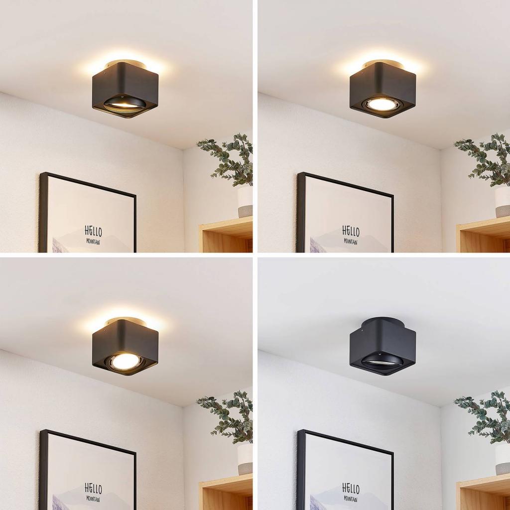 Produktové foto Arcchio Arcchio Talima LED stropní svítidlo hranaté, černé