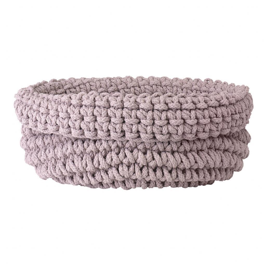 Produktové foto Pletený bavlněný koš COBO světle růžová Blomus