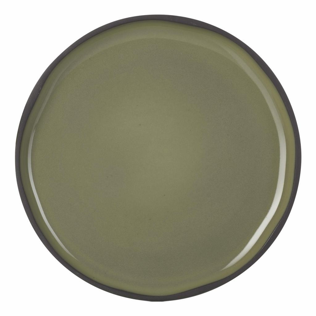 Produktové foto Snídaňový talíř khaki Cardamon CARACTERE REVOL