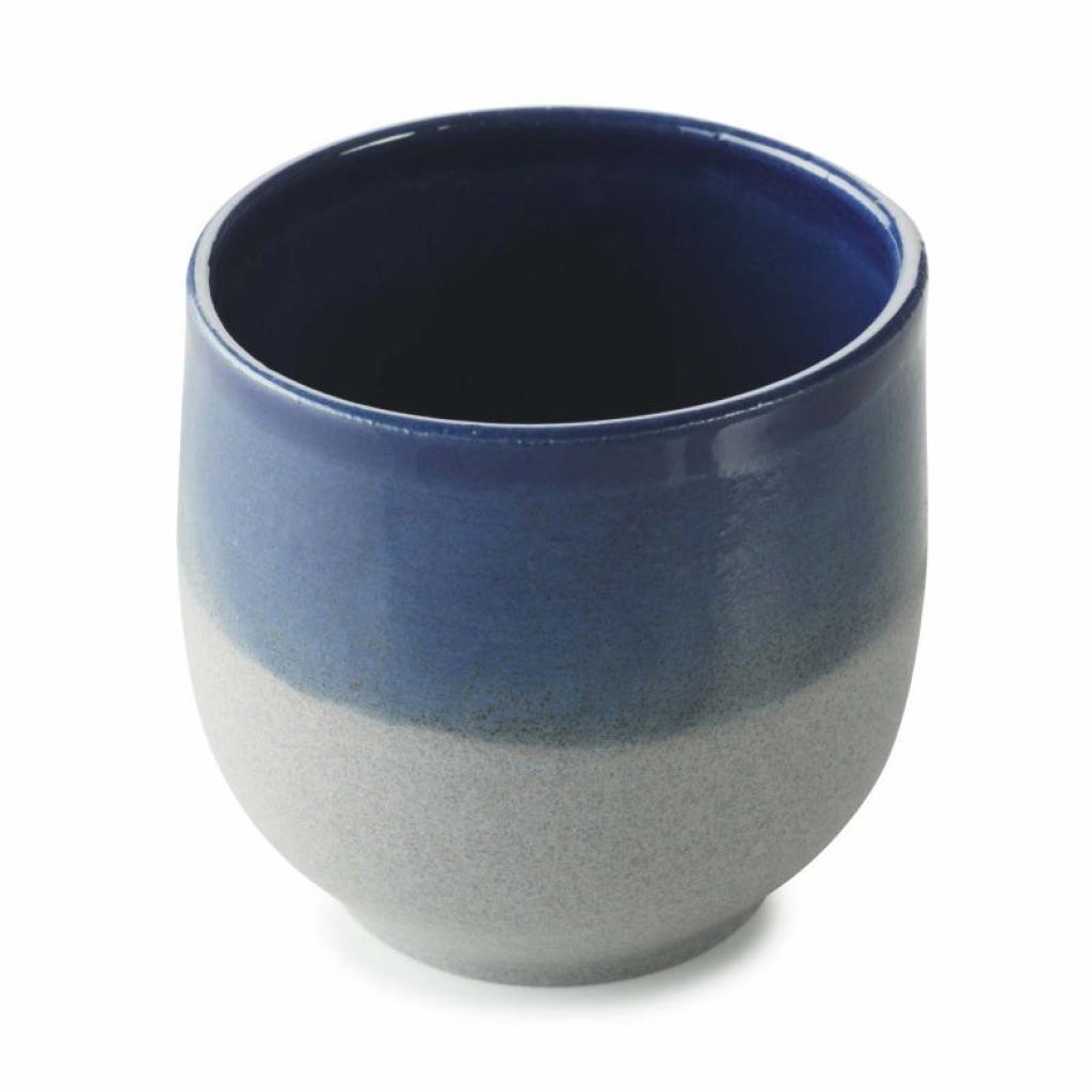 Produktové foto Hrnek bez ouška No.W Revol modrý glazovaný 80 ml