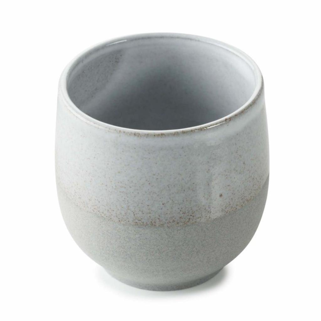 Produktové foto Hrnek bez ouška No.W Revol šedý glazovaný 80 ml
