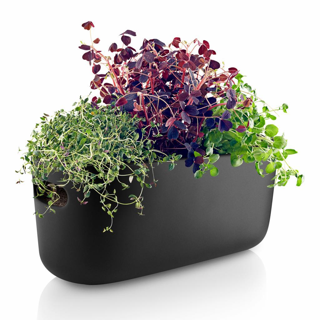 Produktové foto Samozavlažovací keramický květináč černý Eva Solo