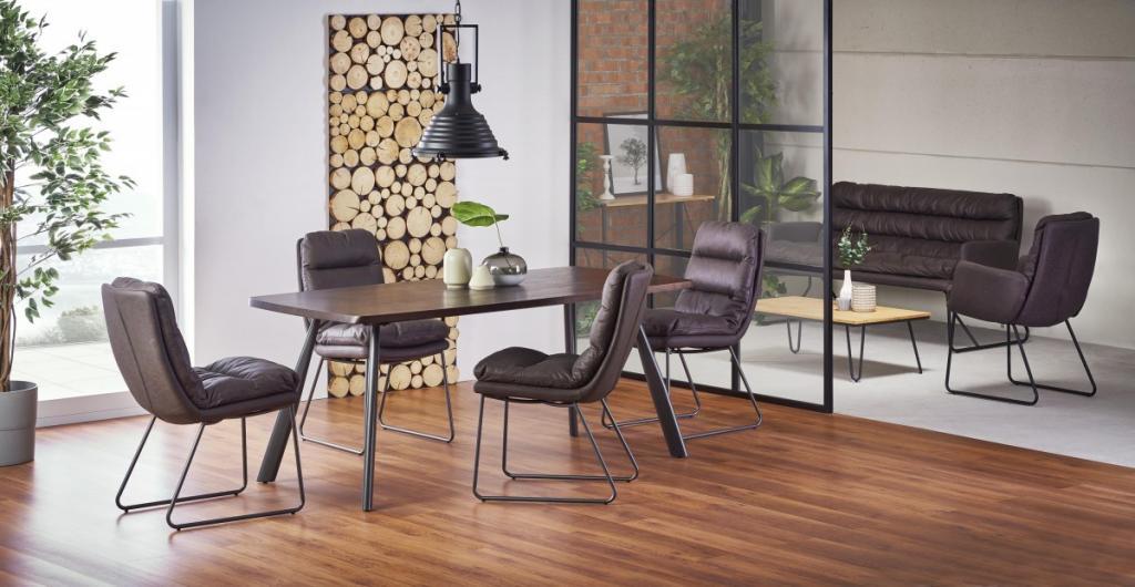 Produktové foto Halmar Jídelní stůl Firmino tmavý ořech/grafit