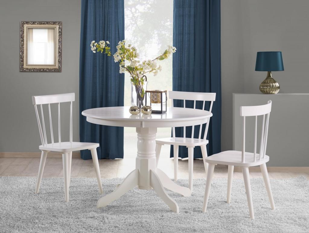 Produktové foto Halmar Kulatý jídelní stůl Gloster bílý