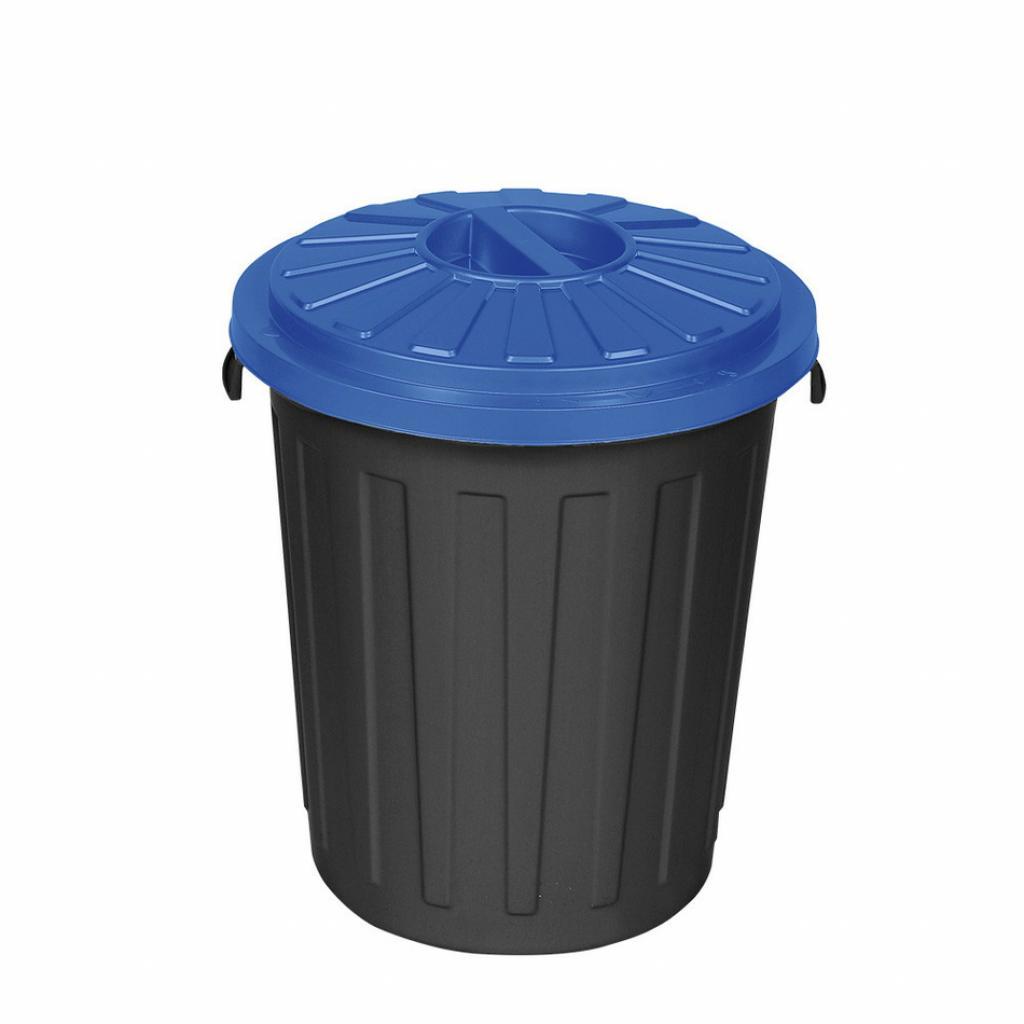 Produktové foto Plastový odpadkový koš Mattis 45 l, modrá
