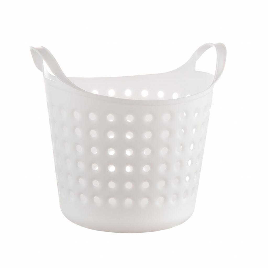 Produktové foto Plastový koš Soft basket 4,1 l, bílá