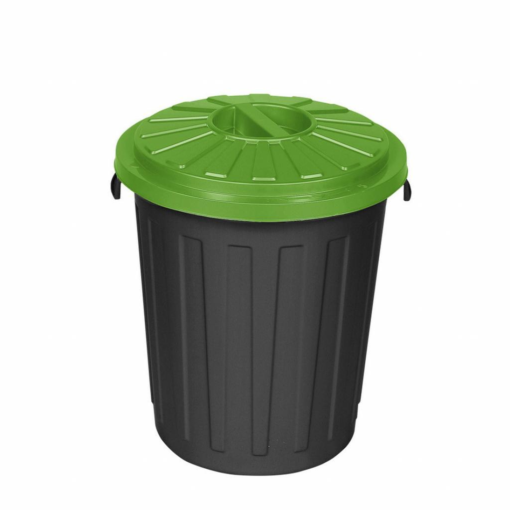 Produktové foto Plastový odpadkový koš Mattis 45 l, zelená