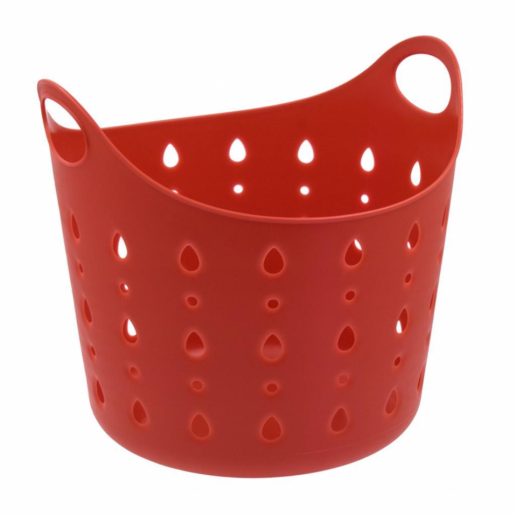 Produktové foto Plastový koš Cubal Libra 10 l, červená