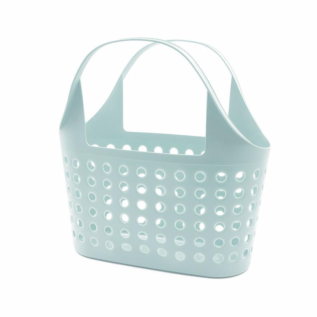 Produktové foto Plastová nákupní taška Soft 11 l, šedá