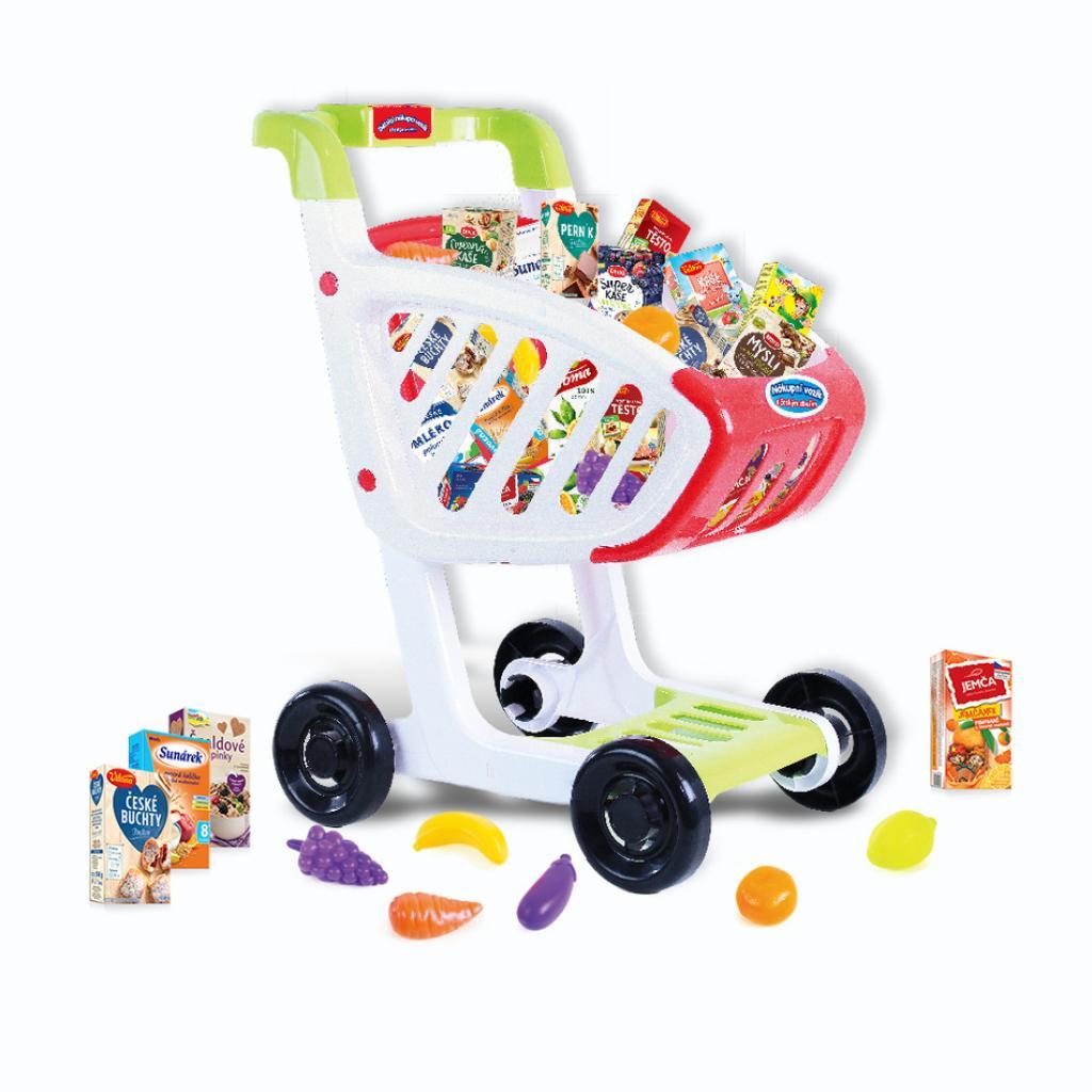 Produktové foto Rappa Dětský nákupní vozík s českým zbožím, 45 x 36 x 24 cm