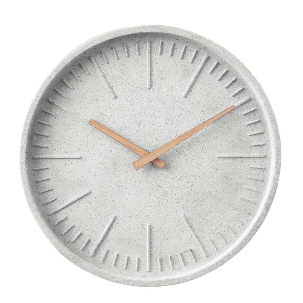 Produktové foto WALL COUTURE Nástěnné hodiny betonový vzhled 30 cm