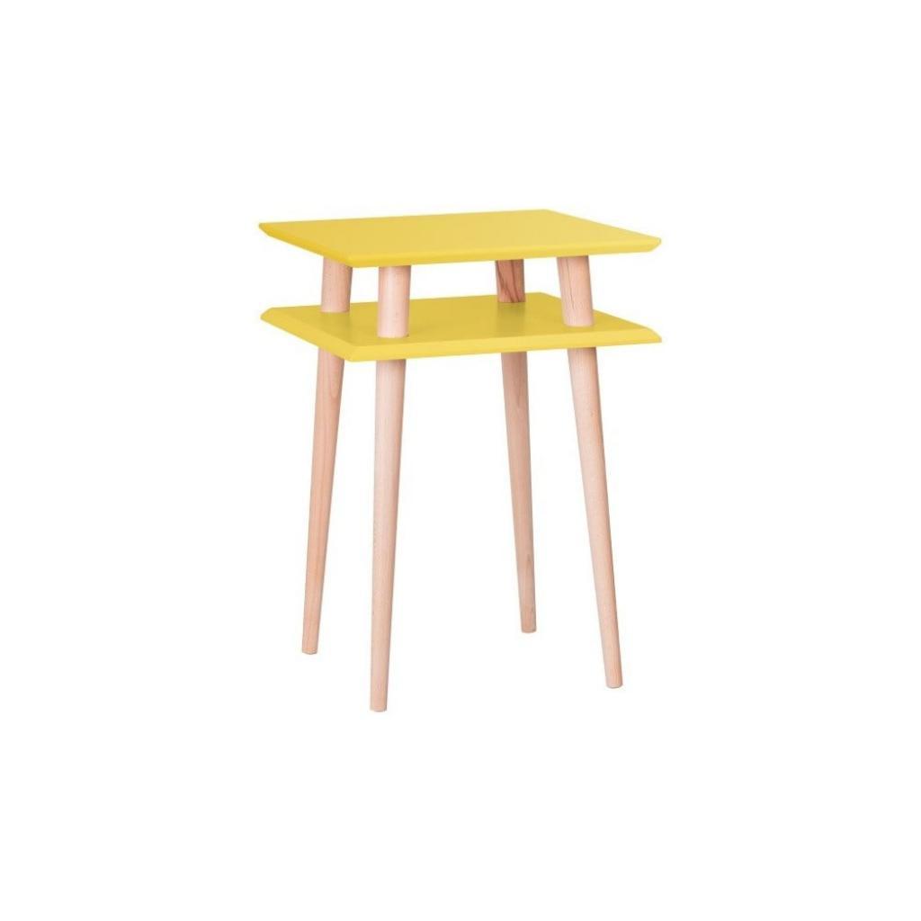 Produktové foto Žlutý odkládací stolek Ragaba Square, 43x43cm
