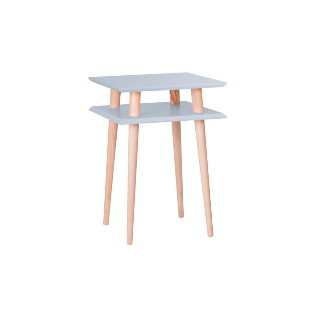 Produktové foto Světle šedý odkládací stolek Ragaba Square, 43x43cm