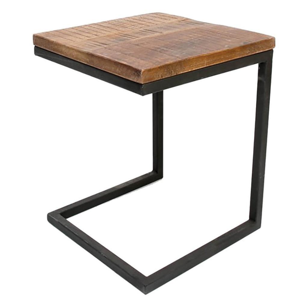 Produktové foto Černý odkládací stolek s deskou z mangového dřeva LABEL51 Box
