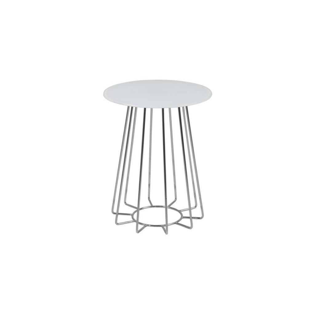 Produktové foto Bílý odkládací stolek Actona Casia, ⌀ 40 cm