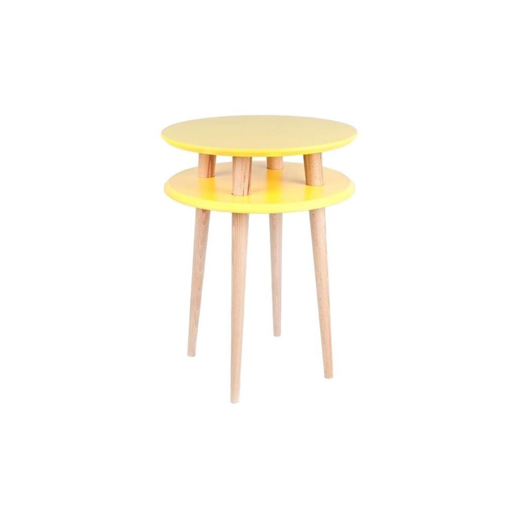 Produktové foto Žlutý odkládací stolek Ragaba UFO,Ø45 cm