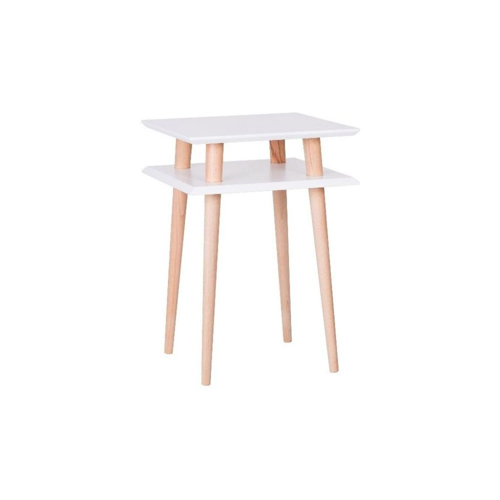 Produktové foto Bílý odkládací stolek Ragaba Square, 43x43cm